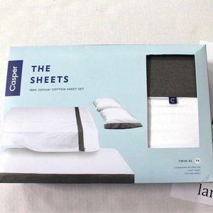 Casper Cool Supima 100% Cotton 3-Pc Sheet Set